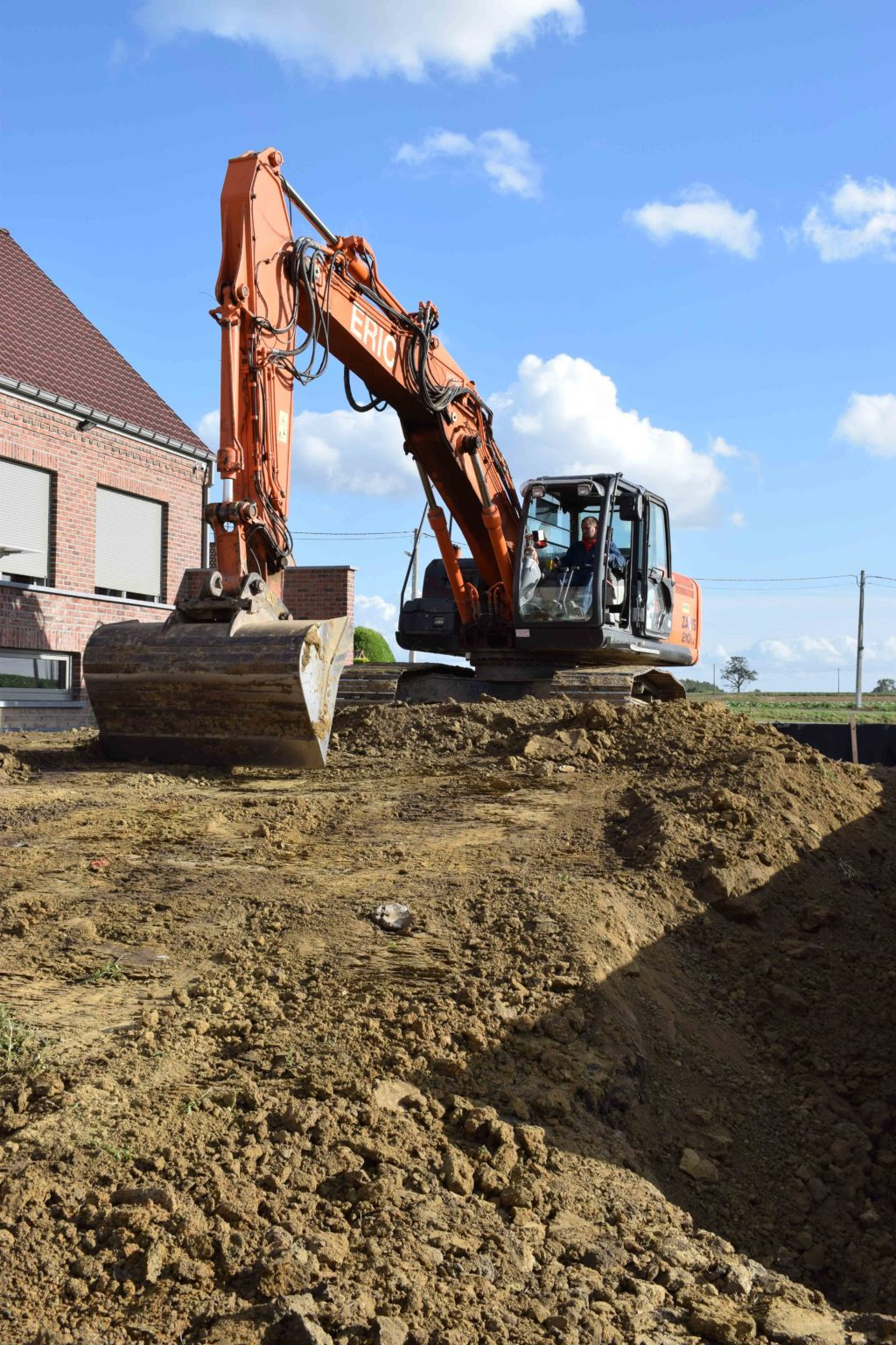 Entreprise de terrassement - creuser les fondations - Tournai - Mons - Dour - Mouscron - Perulwez - Charleroi - Soignies