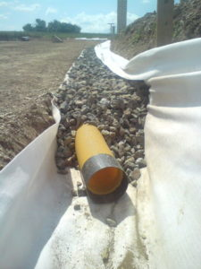 tuyau de drainage fondation terrassement